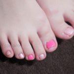 ピンク! なフットネイル